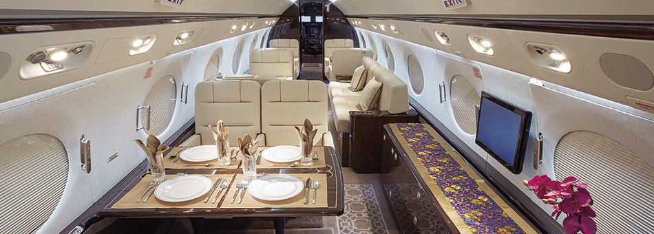 Air Charter In-Flight Services G450 Interior